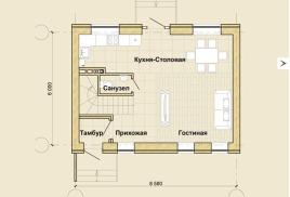 Гостиная площадью до 35 кв.м. Моно-сплит система.