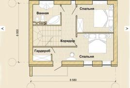 Спальня площадью до 20 кв.м. Моно-сплит система.