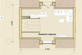 Мансарда/гостиная до 50 кв.м. Моно-сплит система.